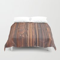wooden Duvet Covers featuring wooden by Katharina Nachher