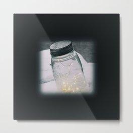 Angel Lights Jar Metal Print