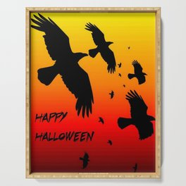 Happy Halloween Murder of Crows  Serving Tray