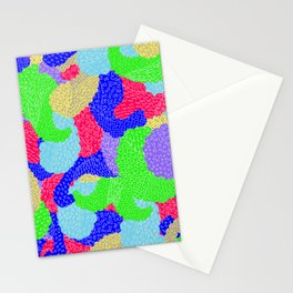 Multicolor Paisleys  Stationery Cards
