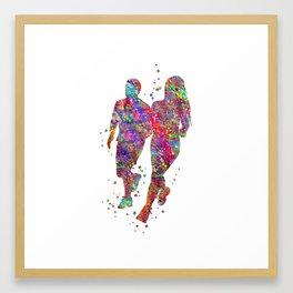 Runner couple Framed Art Print