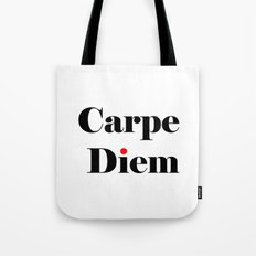 carpe diem red i  Tote Bag
