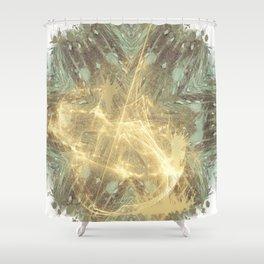 Kaos theory mandala Shower Curtain