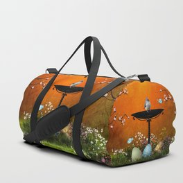Easter eggs in the grass Duffle Bag