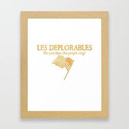 Les Deplorables Framed Art Print