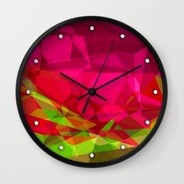 Rosas Moradas 1 Abstract Polygons 3 Wall Clock