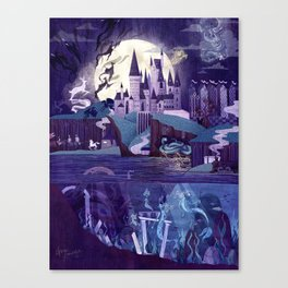 The Castle on the Hill Canvas Print
