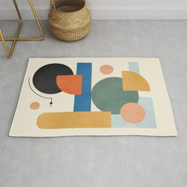 Geometric Color Play 01 Rug