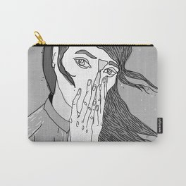 gray girl Carry-All Pouch