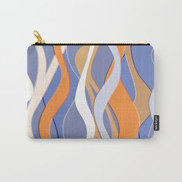 Colorful funky wavy stripes pattern Carry-All Pouch