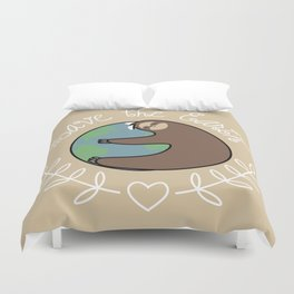 Save The Earth Sloth Duvet Cover