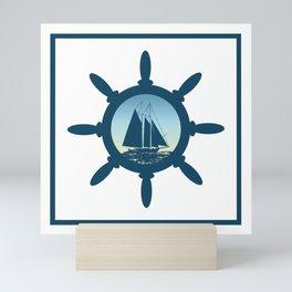 Sailing scene Mini Art Print
