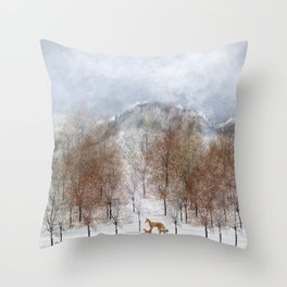 nature will find a way deux Throw Pillow