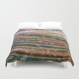 Canna Leaf With Dew Duvet Cover