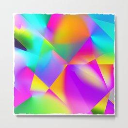 Expressionist Cubes Metal Print
