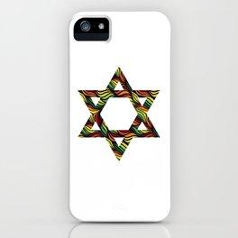 Star of David (Zion) Rasta iPhone Case