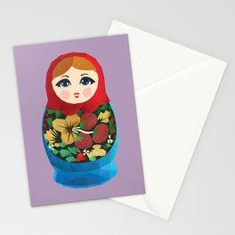 Matryoshka Polygon Art Stationery Cards