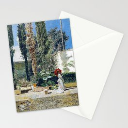 Garden Of The House Of Fortuny - Digital Remastered Edition Stationery Cards