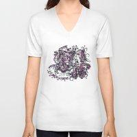 clockwork V-neck T-shirts featuring Clockwork by Voodoodle