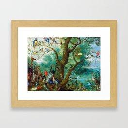 Jan van Kessel - Concert of birds Framed Art Print