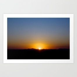 sunset 31/07/13 - 17:55hs Art Print