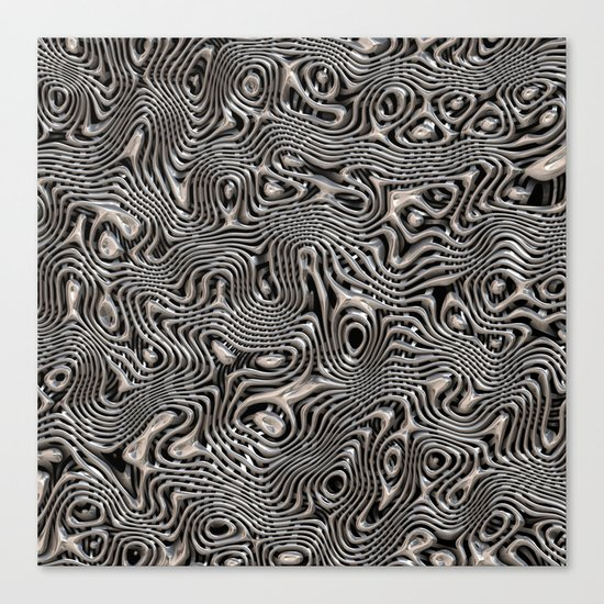 Chrome Chaos Canvas Print