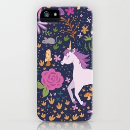 Unicorns Dancing in an Enchanted Garden iPhone Case