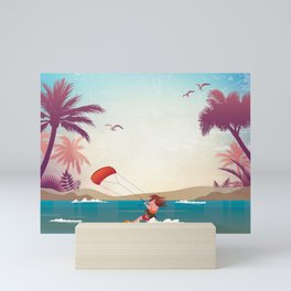 Kite surfer Woman Theme Mini Art Print