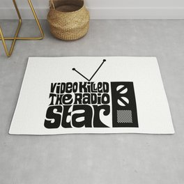 Video Killed The Radio Star Rug
