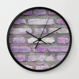 Venetian Bricks in Pink and Lavender Wall Clock