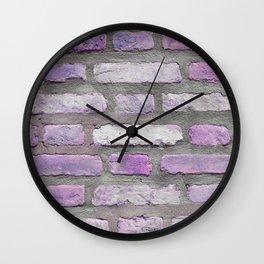 Venetian Bricks in Pink and Lavender Wall Clock