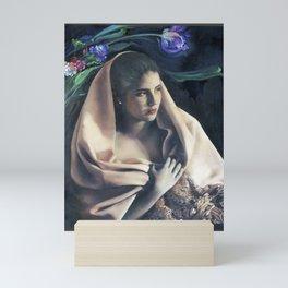 Elegant Lady With Her Shawl #2 Mini Art Print