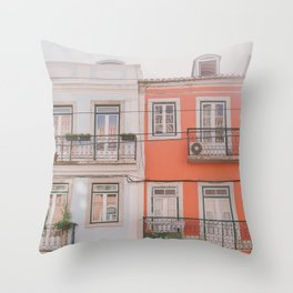 Travel to Lisbon Throw Pillow