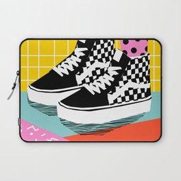 Steezy - retro shoes art print, memphis art print, skater, skateboarding, sneakers, old skool Laptop Sleeve