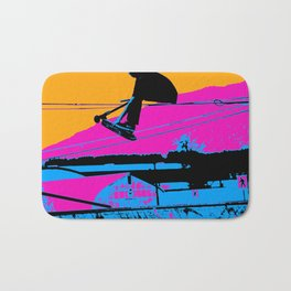 Tail Grabbing High Flying Scooter Bath Mat