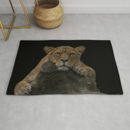 Lioness Looking At You Rug