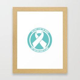 Ride the Waves - Cancer Ribbon Framed Art Print