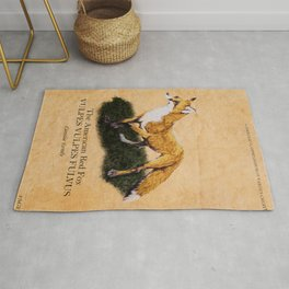 The American Red Fox Rug