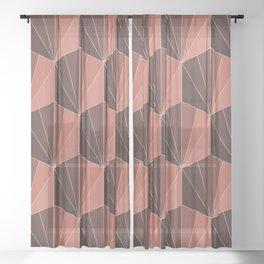 Gisela Color Block Pattern XI Sheer Curtain