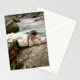 On his Holidays by John Singer Sargent - Vintage Fine Art Oil Painting Stationery Cards
