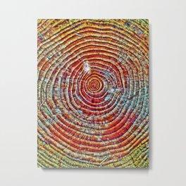 Rainbows & Tree Rings Metal Print