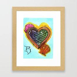 Fish Heart Framed Art Print