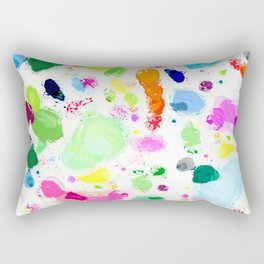 Messy Paint Palette Rectangular Pillow