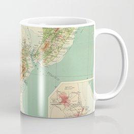 Vintage Map of New Zealand (1922) Coffee Mug