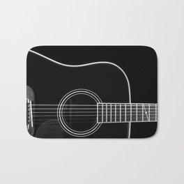 Guitar BW Bath Mat