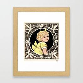Yellow Bow Girl Framed Art Print