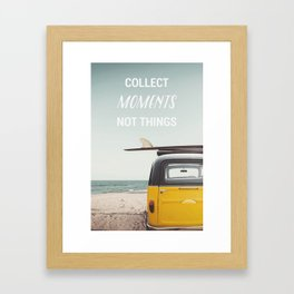 Collect moments Framed Art Print