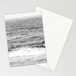 Black & White Ocean Wave Photography Stationery Cards