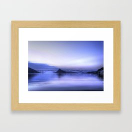 Blue evening Framed Art Print