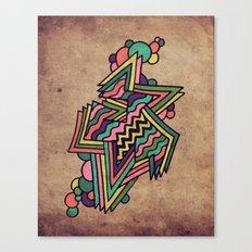Neon Grit Canvas Print